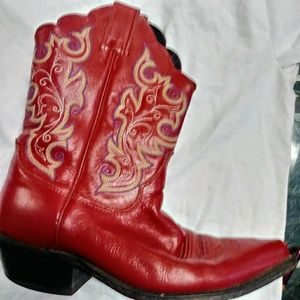 Justin red western boots